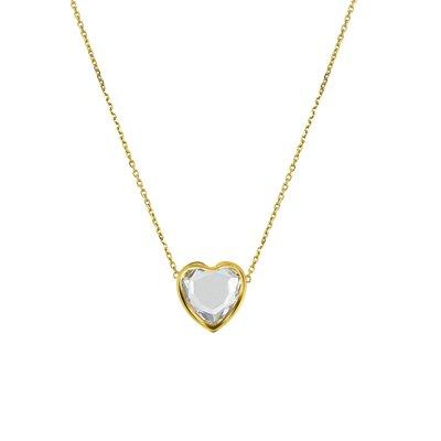 14 Karaat geelgouden ketting & hanger hart