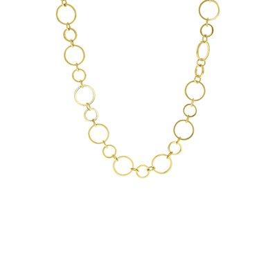 Goudkleurige byoux ketting met ringen