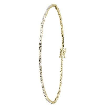 14 Karaat geelgouden armband met diamant0,49ct