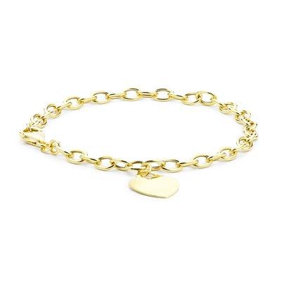 9 Karaat armband met hanger hart