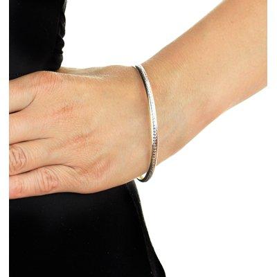 9 Karaat bicolor bangle diamond cut