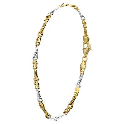 Bicolor gouden armband schakel