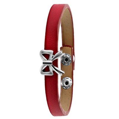 Byoux armband donkerroze strik