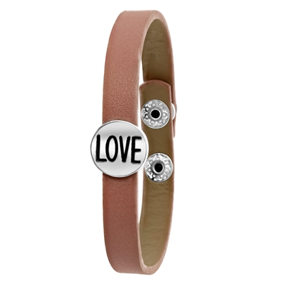 Byoux armband lichtroze love