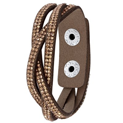Byoux armband vlecht bruin