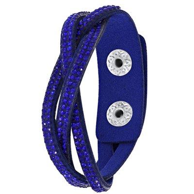 Byoux armband vlecht koningsblauw