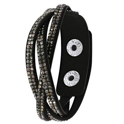 Byoux armband vlecht zwart
