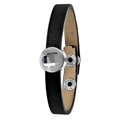 Byoux armband zwart met steen