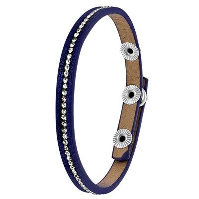 Byoux armbandje donker blauw