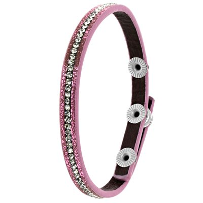 Byoux armbandje donker roze