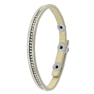 Byoux armbandje zilverkleurig