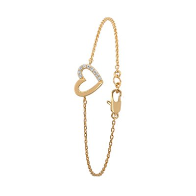 Eve goldplated armband hart met zirkonia