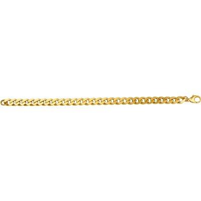 Gold plated armband met gourmet schakel 21 cm