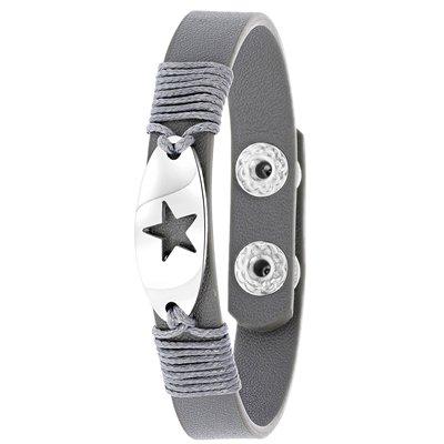 Grijze byoux armband met bedel ster