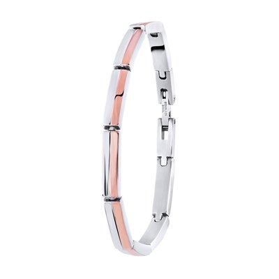 Stalen armband roseplated