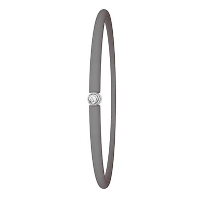 Zilveren armband My First Diamond grijs