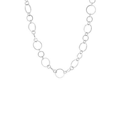 Zilverkleurige byoux ketting met ringen